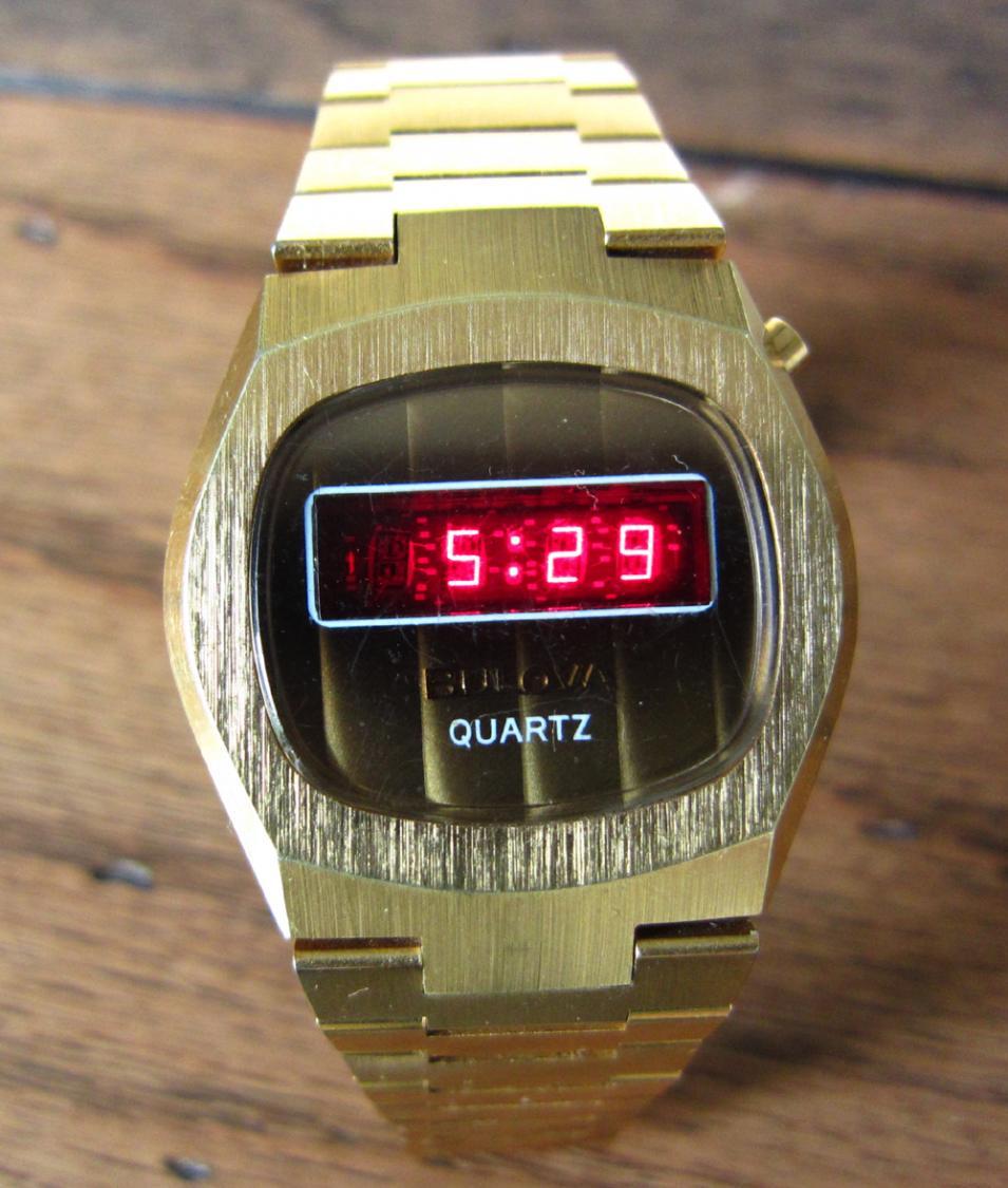 Bulova LED watch.